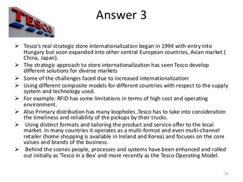 tesco operations and supply chain