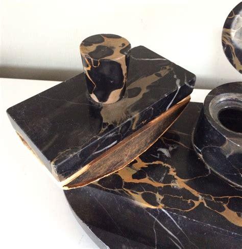 marmor schreibtisch set tintenfass halter stifthalter - Schreibtisch Marmor