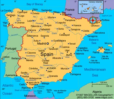 map of spain and portugal atlas spain