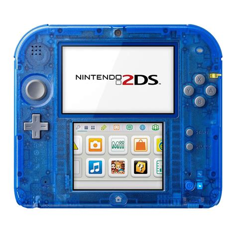 nintendo 2ds console nintendo 2ds bleu transparent console nintendo 3ds
