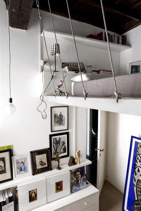 Built in hanging loft bed interior design ideas ofdesign