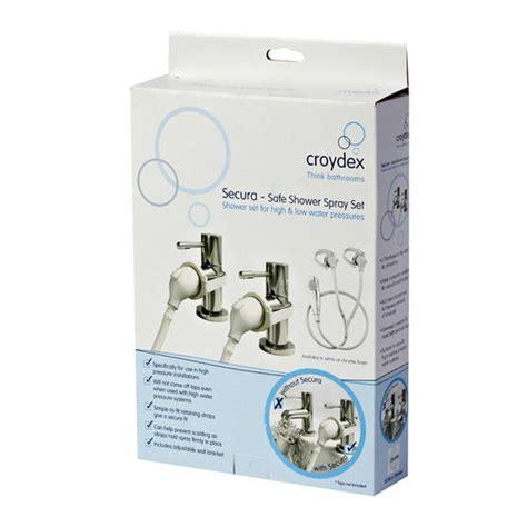 shower adapter for bathtub croydex secura safe shower spray set adapter for bath and