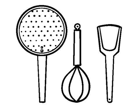 cucina da colorare disegno di utensili cucina da colorare acolore