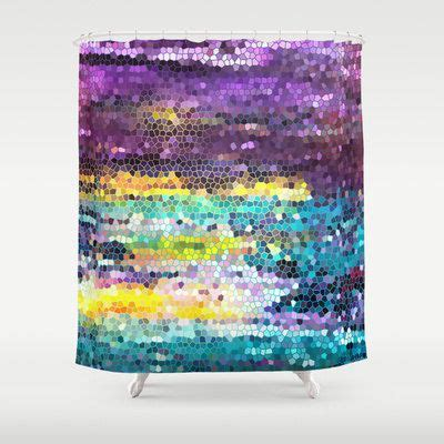 purple and teal shower curtain artistic purple and teal mosaic shower curtain broken