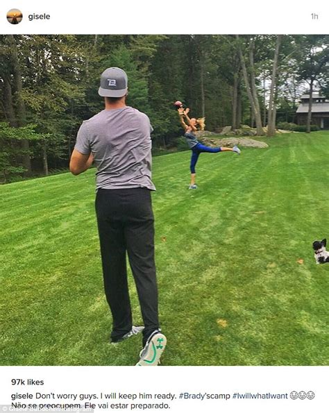 Tom Brady Waits For Giseles Text by Gisele B 252 Ndchen Practises With Tom Brady Ahead Of New