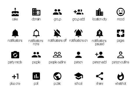 design elements icon design elements android system icons communication