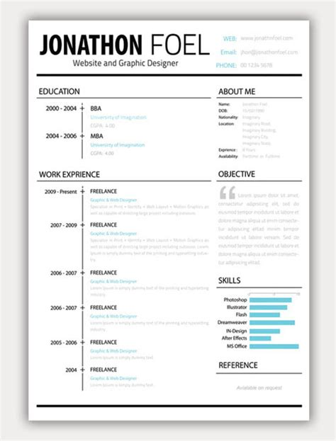 About Me Section On Resume Sle Creative Resume Like The Layout Objective Or About Me Section With Large Quotation