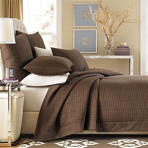 Buy Real Simple 174 Dune Coverlet In Chocolate From Bed Bath