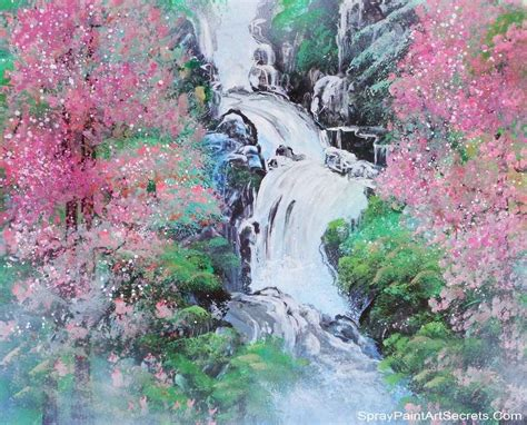 spray paint waterfall waterfall spray paint secrets by alisaamor