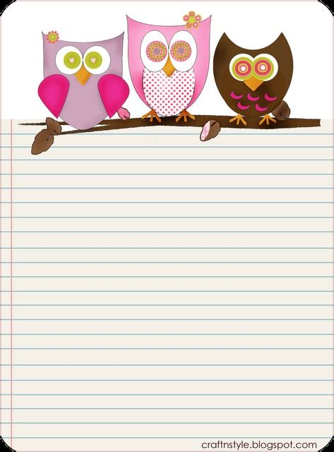printable lined paper cute free printable owl stationery o o cute lined paper