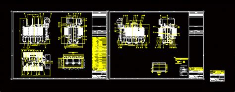 transformer  phase oil immersed mva dwg detail