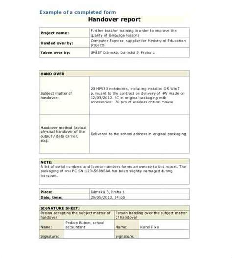 handover certificate template scaffold handover certificate template equipment handover