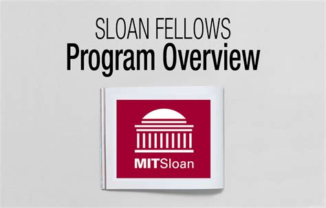 12 Month Mba Program by Mit Sloan Fellows Program Overview Fxmbaconsulting