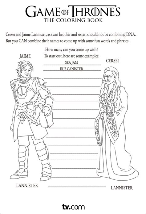 thrones coloring book exles of thrones the coloring book tv