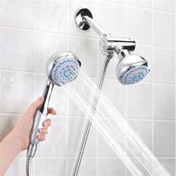 new high pressure 5 setting dual handheld shower with