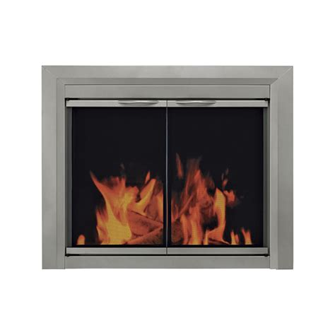 pleasant hearth colby fireplace glass door for masonry
