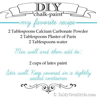 chalk paint using calcium carbonate furniture makeover mixing up diy chalk paint recipes colors