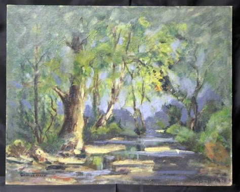 Landscape Artist George Crossword Brown County In Landscape Painting By Noted Hoosier