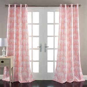 Of light window panels amp more elephant prade window curtains in pink