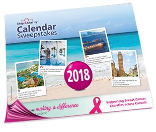 Shop4charity Calendar Sweepstakes 2017 - 2018 sweepstakes prize winners draw codes calendar sweepstakes for the cure