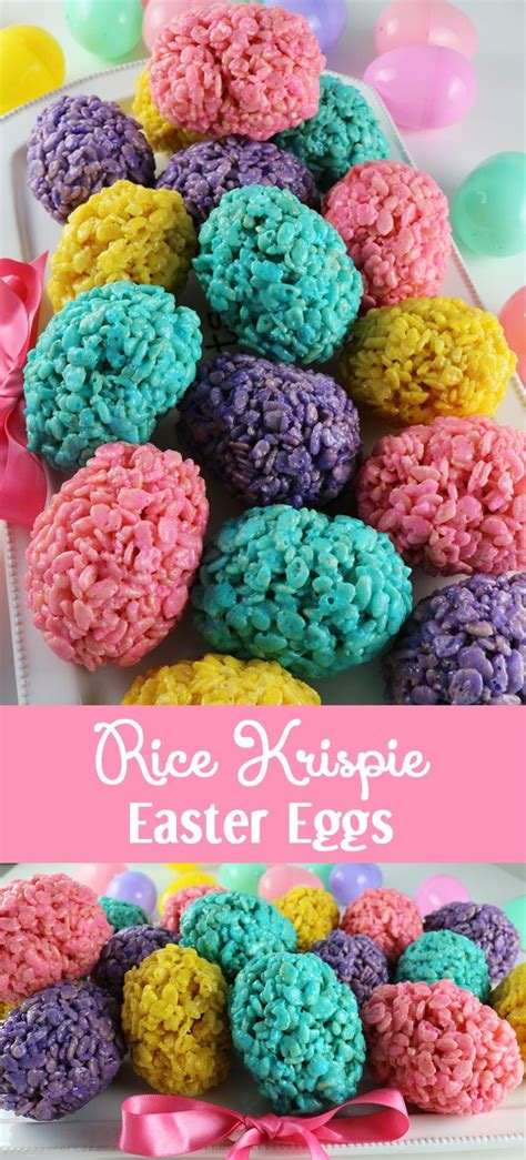 easter recipes rice krispie easter eggs easter recipes love this and eggs