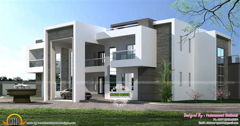 Kerala Modern Home Design 2015 by Flat Roof Arabian House Plan Kerala Home Design And