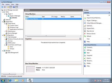 hyper v manager console configuring remote management of hyper v server in a