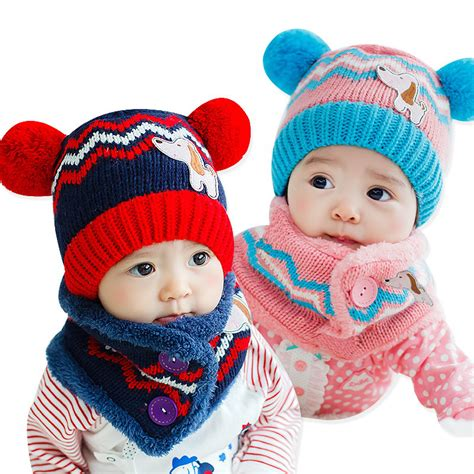 aliexpress buy winter baby hat scarf set style
