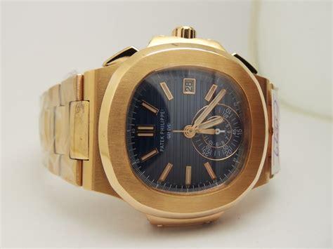 Patek Philipe Nautilus Rosgold Clone 11 yellow gold blue patek philippe nautilus chronograph 5980 replica 1 1 original