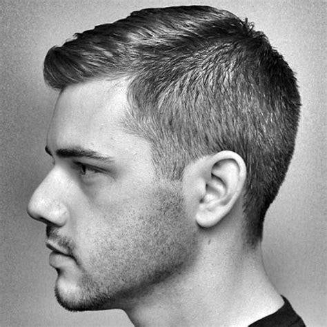 how to trim and cut a combover men s crew cut hairstyle
