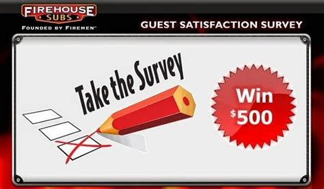 Survey Giveaway - firehouse customer feedback survey sweepstakes sweepstakesbible