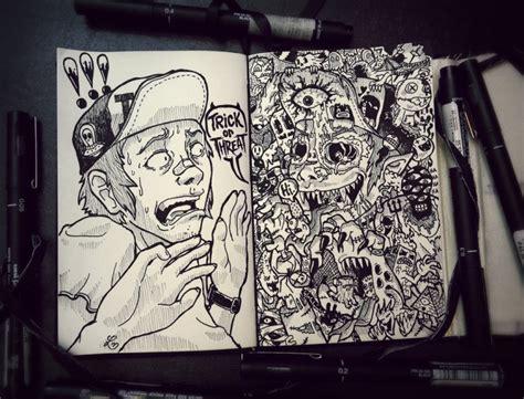 doodle drawing illustrator doodles art3 fubiz media