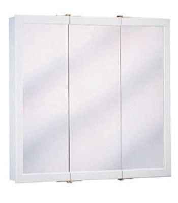 24 inch white wood tri view medicine cabinet w24 ebay