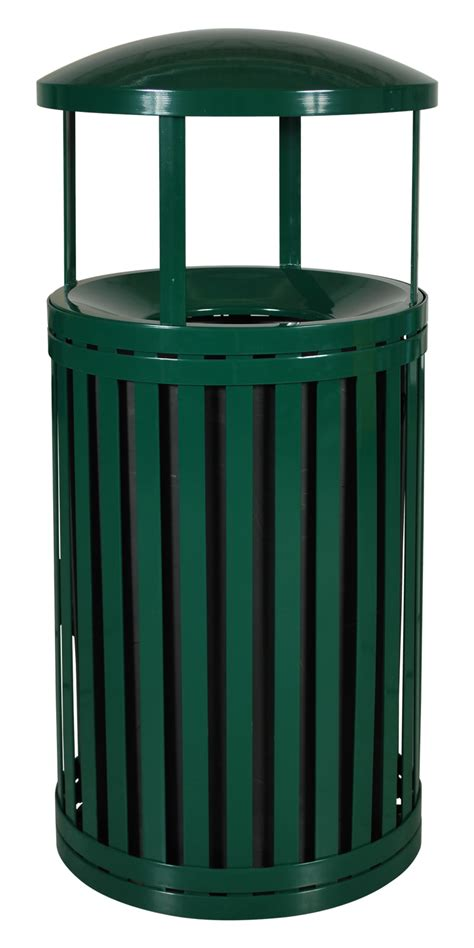Patio Trash Cans Outdoor by Streetscape Outdoor Waste Receptacle With Bonnet 45
