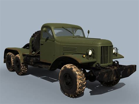Jeep 8888 2 Semi Ori zil 157 truck tractor 3d model