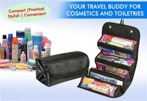 Q3 Cosmetik Organizer Bag Roll And Go Bagma Kode E3367 buy roll n go black cosmetic bag toiletry jewelery organizer in india 89713511