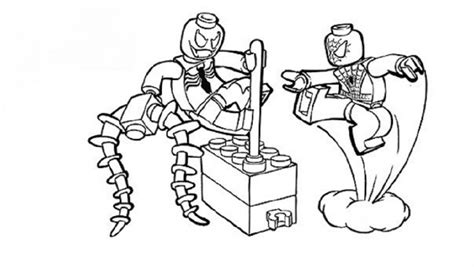 coloring page lego spiderman lego spiderman coloring pages movie pinterest lego