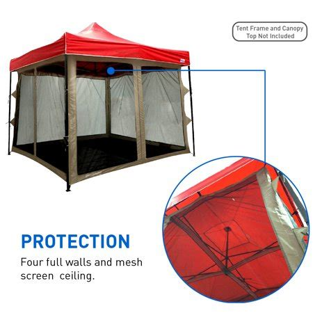 10 x 10 screen tent with floor screen house attaches to any 10 x10 easy up screen tent
