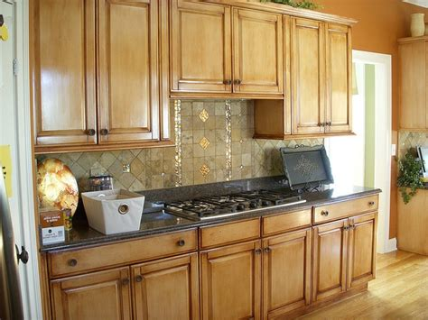 umber glaze pickled oak cabinets kitchen with wood