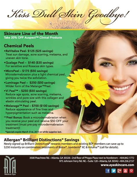 Stallex Skin Care March Promotion by 105 Best Spa Advertising Ideas Images On