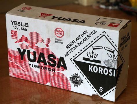 Aki Motor Yuasa Yb5l B Kit Yumicron aki yuasa yb5l b yumicron elektrologi