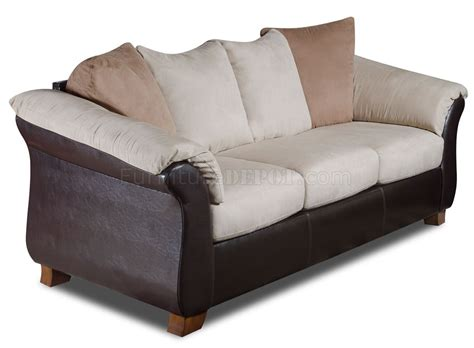 combo microfiber sofa loveseat set w bonded leather