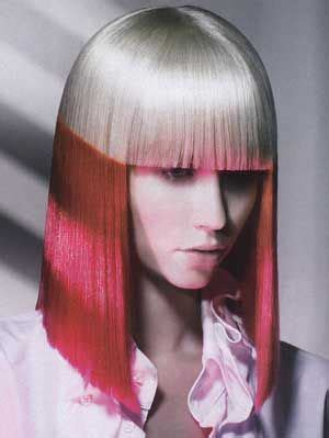 color blocked hair color blocking hair silver pink color blocked hair