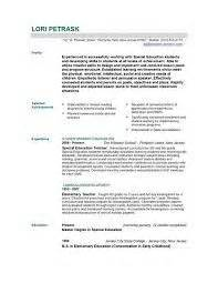 Resume Templates Word Free Http