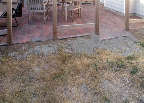 Patio Pavers Underlayment Paver Renovation And Extension Ajb Landscaping Fence