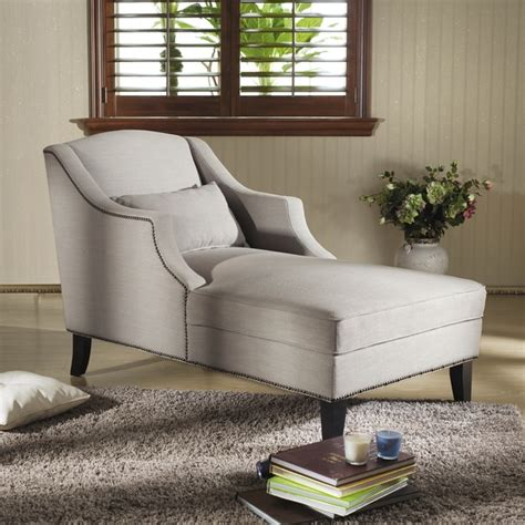 overstock chaise lounge gray linen chaise lounge overstock sunroom den office