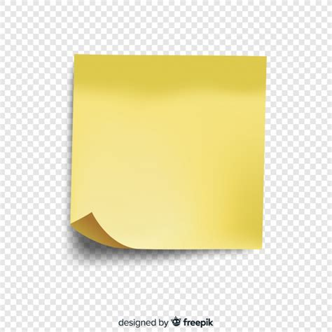 notes transparent background realistic post note on transparent background vector