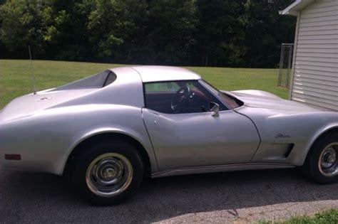 1976 corvette stingray t top 1976 corvette stingray l 82 t top silver for sale