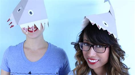 How To Make A Paper Shark Hat - literally nothing is better than this shark hat diy