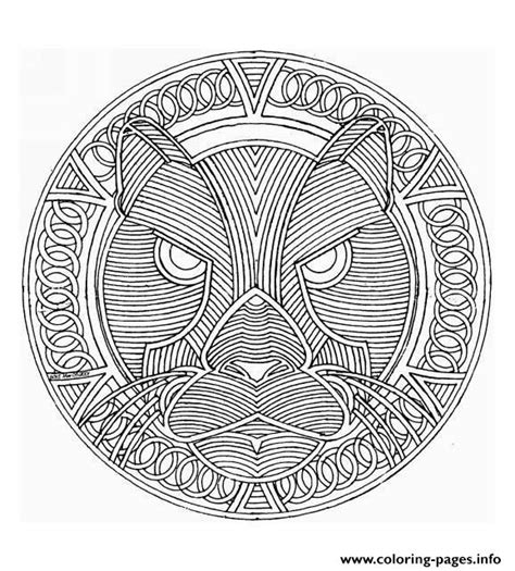 mandala difficult adult  print  coloring pages
